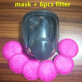 Masker Gas Full Face dengan 6 Round Filter - 6800