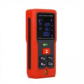 Pengukur Jarak Laser Distance Meter 40M - SW-T40 - Black/Red - 3