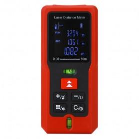 Pengukur Jarak Laser Distance Meter 80M - SW-T80 - Black/Red
