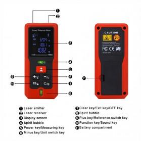 Pengukur Jarak Laser Distance Meter 100M - SW-T100 - Black/Red - 2