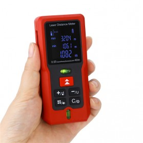 Pengukur Jarak Laser Distance Meter 100M - SW-T100 - Black/Red - 5