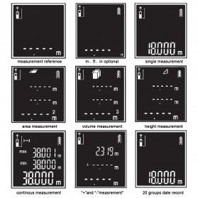 Pengukur Jarak Laser Distance Meter 100M - SW-T100 - Black/Red - 9