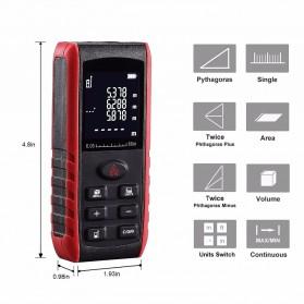 Pengukur Jarak Laser Distance Meter 60M - KXL-E60 - Black/Red - 2