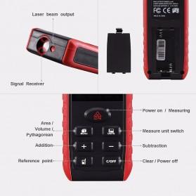 Pengukur Jarak Laser Distance Meter 60M - KXL-E60 - Black/Red - 3