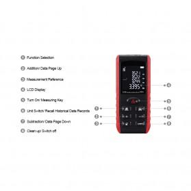 Pengukur Jarak Laser Distance Meter 60M - KXL-E60 - Black/Red - 4