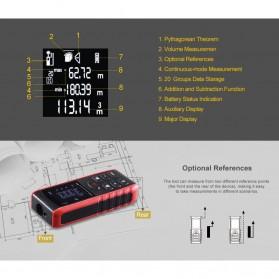 Pengukur Jarak Laser Distance Meter 60M - KXL-E60 - Black/Red - 7