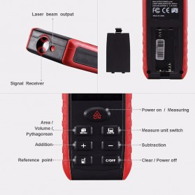 Pengukur Jarak Laser Distance Meter 100M - KXL-E100 - Black/Red - 3