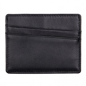 Dompet Kartu Bahan Kulit Anti RFID - Black
