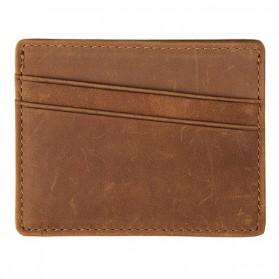 Dompet Kartu Bahan Kulit Anti RFID - Brown - 1