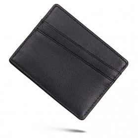Dompet Kartu Bahan Kulit Anti RFID - Brown - 2