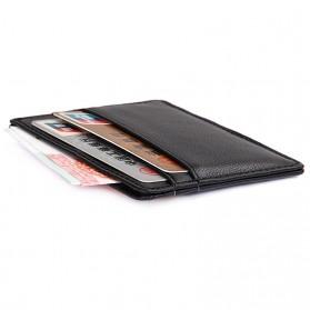 Dompet Kartu Bahan Kulit Anti RFID - Brown - 4