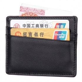 Dompet Kartu Bahan Kulit Anti RFID - Brown - 5