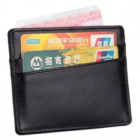 Dompet Kartu Bahan Kulit Anti RFID - Brown - 6