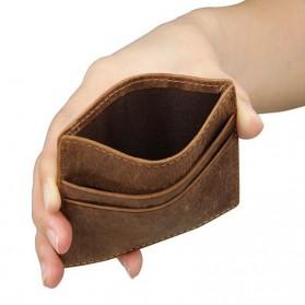Dompet Kartu Bahan Kulit Anti RFID - Brown - 7