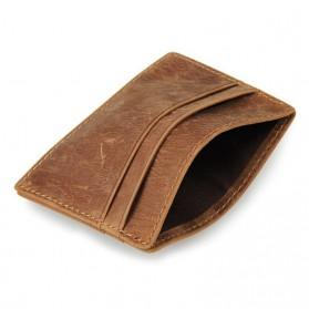 Dompet Kartu Bahan Kulit Anti RFID - Brown - 8
