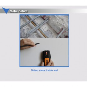 Stud Finder Detektor Logam Wire Wall Scanner - TS78B - Black/Yellow - 7