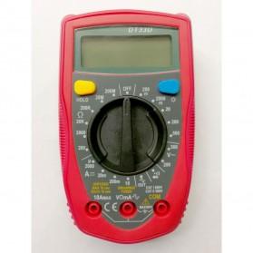 Pocket Size Digital Multimeter AC/DC Voltage Tester - DT33D - Blue - 3