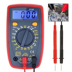 Pocket Size Digital Multimeter AC/DC Voltage Tester - DT33D - Blue - 4