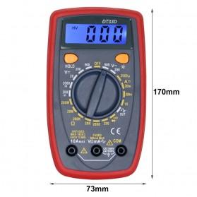 Pocket Size Digital Multimeter AC/DC Voltage Tester - DT33D - Blue - 5