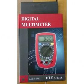 Pocket Size Digital Multimeter AC/DC Voltage Tester - DT33D - Blue - 8