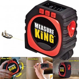 Measure King Meteran Digital 3 in 1 Roller Cord Sonic Mode 20M - M001 - Black