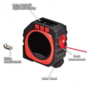 Measure King Meteran Digital 3 in 1 Roller Cord Sonic Mode 20M - M001 - Black - 2