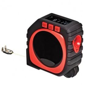 Measure King Meteran Digital 3 in 1 Roller Cord Sonic Mode 20M - M001 - Black - 6