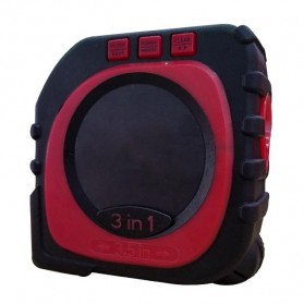 Measure King Meteran Digital 3 in 1 Roller Cord Sonic Mode 20M - M001 - Black - 7