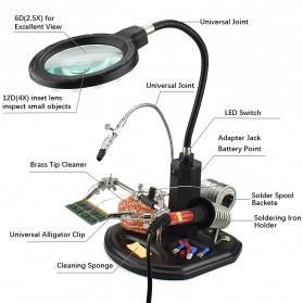 YUPEI Alat Pegangan Solder Helping Hand dan Kaca Pembesar 16SMD LED - TE-802 - Black - 3