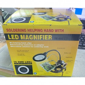 YUPEI Alat Pegangan Solder Helping Hand dan Kaca Pembesar 16SMD LED - TE-802 - Black - 8