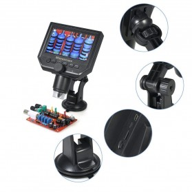 Mikroskop Digital 3.6MP 600X dengan Monitor & Suction Cup Stand - G600 - Black