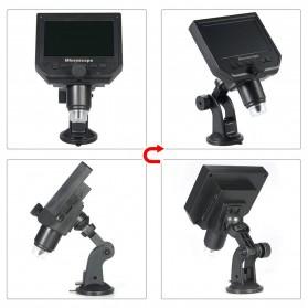 Andonstar Mikroskop Digital 3.6MP 600X dengan Monitor & Suction Cup Stand - G600 - Black - 3