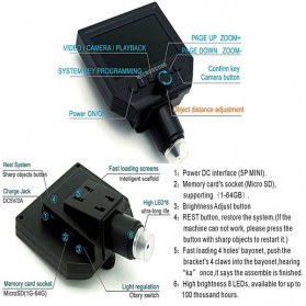 Andonstar Mikroskop Digital 3.6MP 600X dengan Monitor & Suction Cup Stand - G600 - Black - 6
