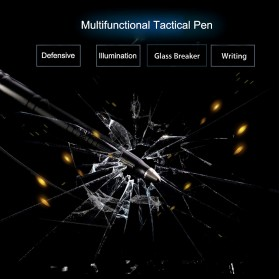 Laix Pena Self Defense Protection Tactical Pen Aluminium - B007-2 - Black - 5