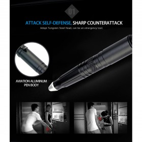 Laix Pena Self Defense Protection Tactical Pen Aluminium - B007-2 - Black - 7