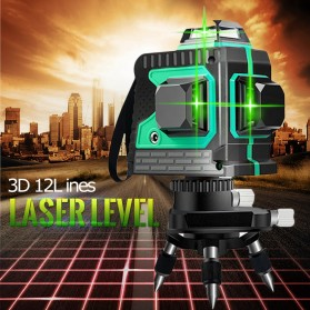 VAHIGCY Self Leveling 3D Wall Meter Laser Beam 12 Line - Red - 2