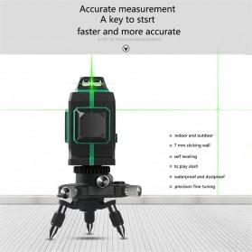 VAHIGCY Self Leveling 3D Wall Meter Laser Beam 12 Line - Red - 7