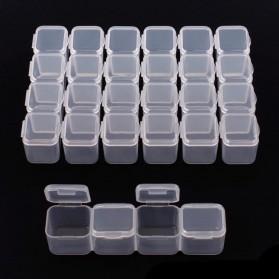 IFITU Kotak Penyimpanan Perhiasan Separate Box 28 Slot - J2019 - Transparent - 2