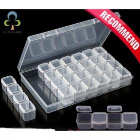 IFITU Kotak Penyimpanan Perhiasan Separate Box 28 Slot - J2019 - Transparent - 3