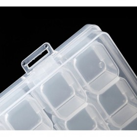IFITU Kotak Penyimpanan Perhiasan Separate Box 28 Slot - J2019 - Transparent - 4