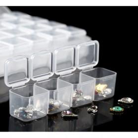 IFITU Kotak Penyimpanan Perhiasan Separate Box 28 Slot - J2019 - Transparent - 6