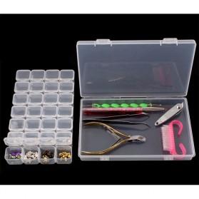 IFITU Kotak Penyimpanan Perhiasan Separate Box 28 Slot - J2019 - Transparent - 7