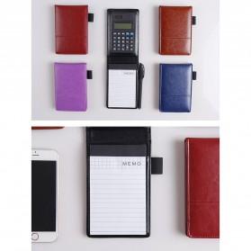 Buku Catatan Binder Note Cover Kulit with Kalkulator - Y8303 - Black