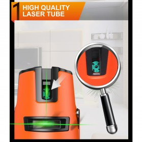 LOMVUM Self Leveling Laser 2 Line 2 Points - LL5 - Orange - 5