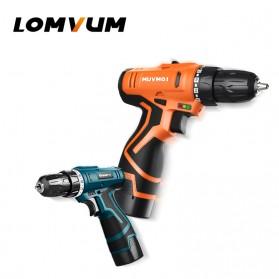 LOMVUM Bor Obeng Listrik Lithium Battery Rechargeable 12V - LY168V - Green - 2