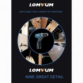 LOMVUM Bor Obeng Listrik Lithium Battery Rechargeable 12V - LY168V - Green - 8