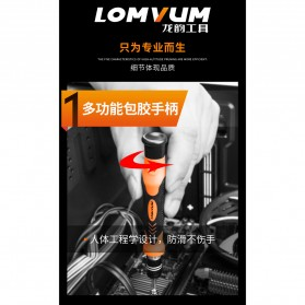 LOMVUM Obeng Set Reparasi 45 in 1 - Black/Orange - 5