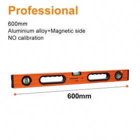 Lomvum Waterpass Spirit Level Bubble Magnetic Ruler 600mm - WX-98 - Orange