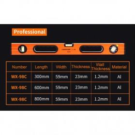 Lomvum Spirit Level Bubble Magnetic 600mm - WX-98 - Orange - 7