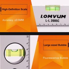 Lomvum Spirit Level Bubble Magnetic 300mm - WX-2005C - Silver - 2